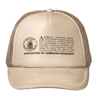 American Railroads United For Victory Trucker Hat