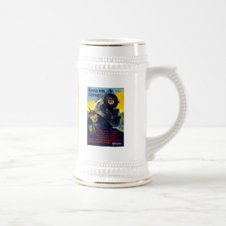 American Railroads Victory Liberty Loan Train Beer Stein