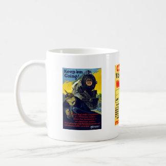 American Railroads - Victory Liberty Loan Train Coffee Mug