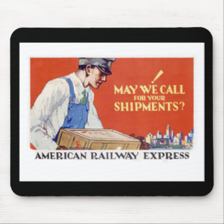 American Railway Express,May We Call ? Mouse Pad