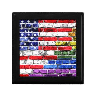 American Rainbow Flag Jewelry Box