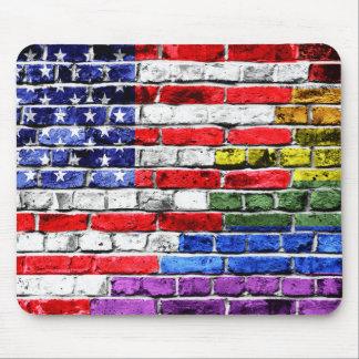 American Rainbow Flag Mouse Pad