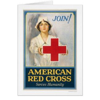 American Red Cross Serves Humanity Greeting Card