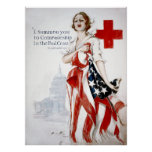 American Red Cross Vintage World War I Poster