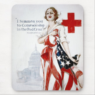 American Red Cross Vintage World War I Poster Mouse Pad