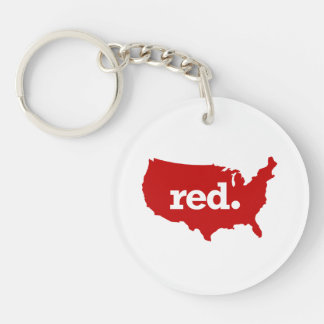 AMERICAN RED STATE KEYCHAIN