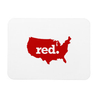 AMERICAN RED STATE MAGNET