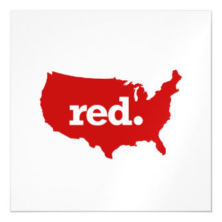 AMERICAN RED STATE MAGNETIC CARD