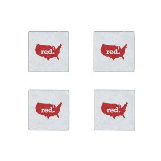 AMERICAN RED STATE STONE MAGNET
