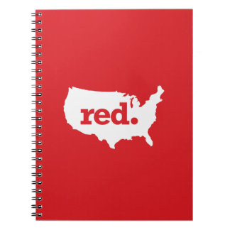 American Red States Spiral Note Books