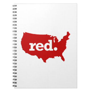 American Red States Spiral Notebook