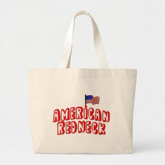 American Redneck Large Tote Bag