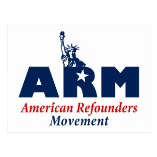 American Refounders Movement (ARM) Postcard