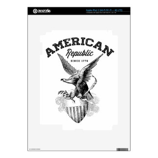 American Republic Eagle and Shield Skin For iPad 3