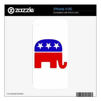 American Republican Log Decals For iPhone 4