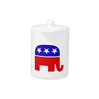 American Republican Log Teapot