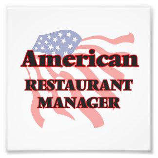 American Restaurant Manager Photo Print