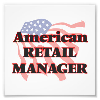 American Retail Manager Photo Print