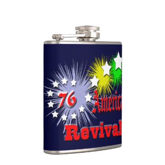 American revival political hip flask