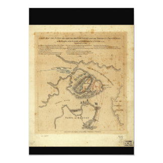 American Revolution Battle of Bunker Hill 1775 5x7 Paper Invitation Card