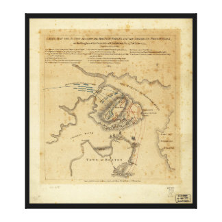 American Revolution Battle of Bunker Hill 1775 Canvas Print