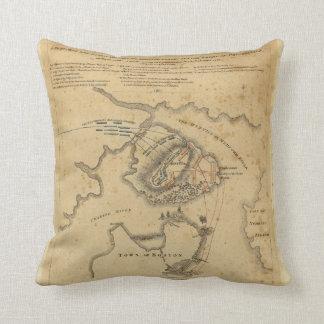 American Revolution Battle of Bunker Hill 1775 Throw Pillow