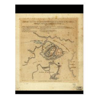 American Revolution Battle of Bunker Hill 1775 Postcard