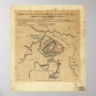 American Revolution Battle of Bunker Hill 1775 Poster