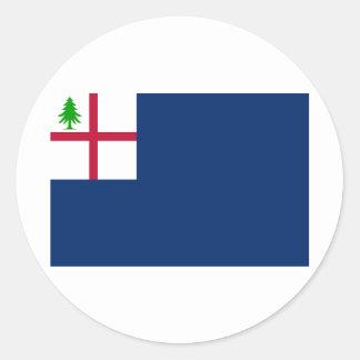 American Revolution Battle of Bunker Hill Flag Classic Round Sticker