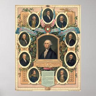 American Revolution Freemasons 1876 Poster