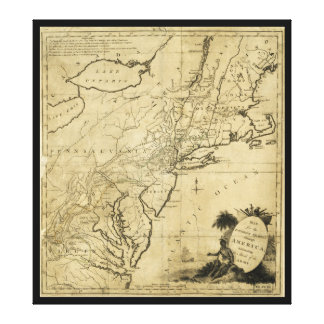 American Revolution Map by Thomas Conder (c 1780) Canvas Print