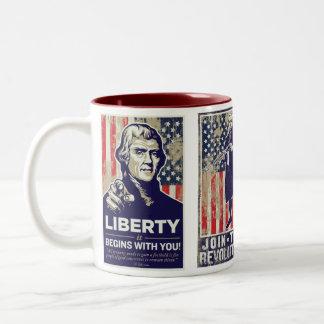 American Revolution Propaganda Mug