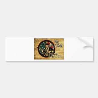 American revolution soldier flag vintage bumper sticker