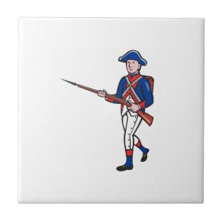 American Revolutionary Soldier Cartoon Tile