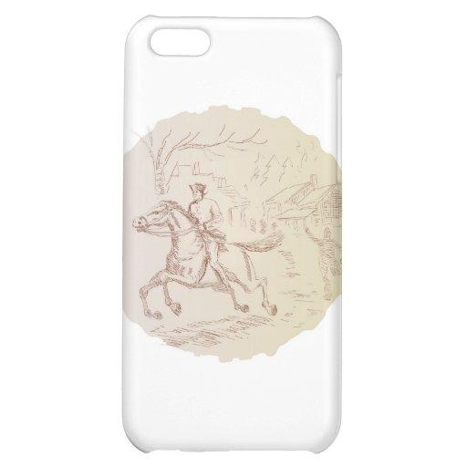american revolutionary soldier patriot Paul Revere iPhone 5C Cases