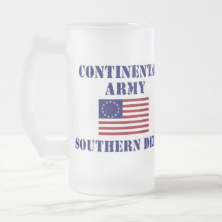 American Revolutionary War Continental Army Glass 16 Oz Frosted Glass Beer Mug
