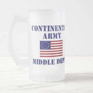 American Revolutionary War Frosted Glass Frosted Glass Beer Mug
