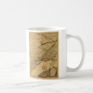 American Revolutionary War Map by J.B Eliot (1781) Classic White Coffee Mug