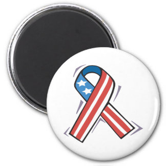 American Ribbon 2 Inch Round Magnet
