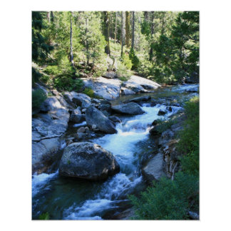 American River, Mountains, Portrait Poster