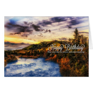 American River Scenic View - Birthday Card