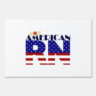 American RN Lawn Sign