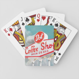 American Roadside   Coffee Shop Sign Playing Cards