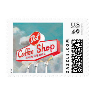 American Roadside | Coffee Shop Sign Postage