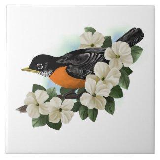 American Robin Art Tile