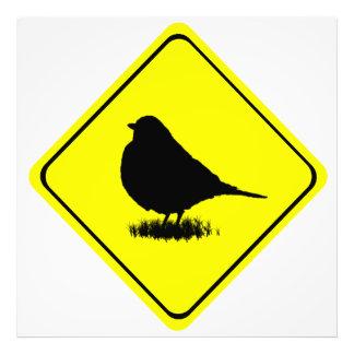 American Robin Bird Silhouette Crossing Sign Art Photo