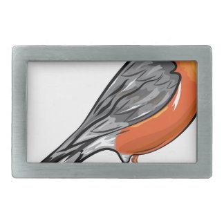 American Robin bird Vector illustration Belt Buckle