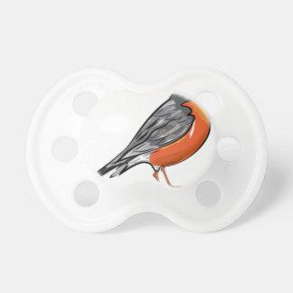 American Robin bird Vector illustration Pacifier