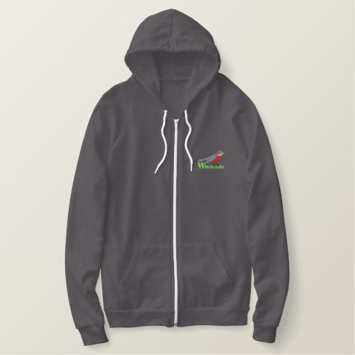 American Robin Embroidered Hoodie