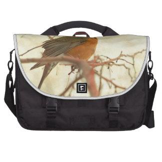 American Robin in The Springtime Laptop Messenger Bag